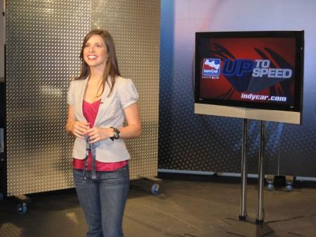 Lauren hosting her show