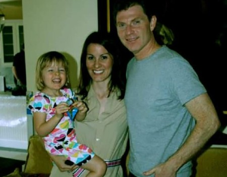 Kate Connelly and her former husband, Bobby Flay, with their daughter, Sophie.