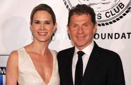 Bobby Flays with his former third wife, Stephanie March.