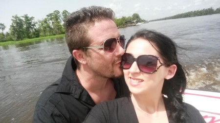 Stephanie with her husband, Kris at a vacation