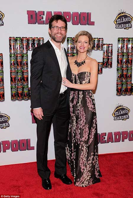 Rhett and Chelsey during Deadpool premier.
