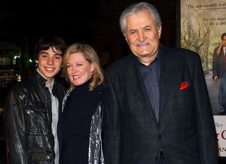 Alex with his parents, John, and Sherry at the premiere of Jennifer's movie, Along Came Polly (2004).