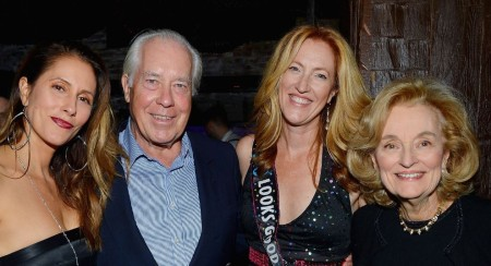 Cristina Cuomo with Rainer Greeven (father), Andrea (sister), and Regina Greeven (mother) at Andrea's birthday in 2016.